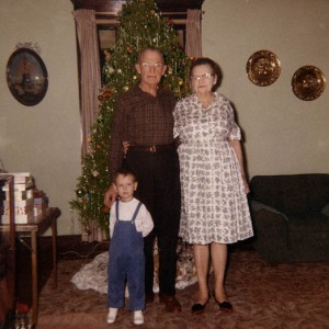 Christmas 1964 with my grandparents