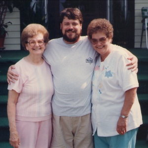 Moms In Stereo: my mom is on the left and my birthmother is on the right.